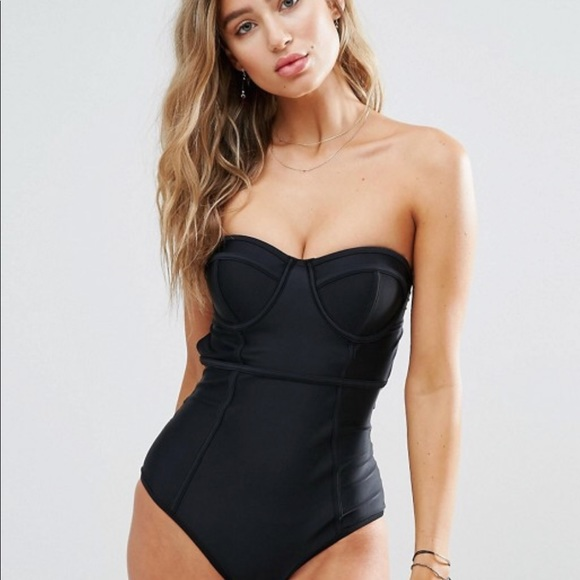 bb6c40fa14 ASOS Swim | Black South Beach One Piece Bathing Suit | Poshmark